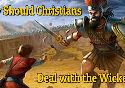 How should Christians Deal with the Wicked?