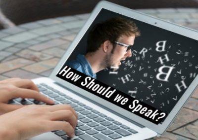 How Should We Speak?