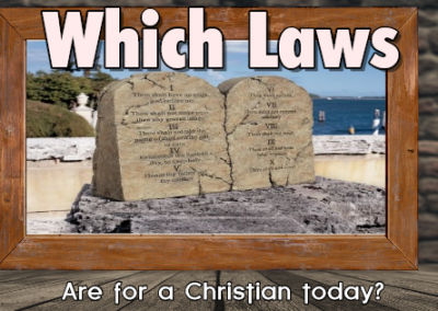 Which Laws Should Christians Obey Today?